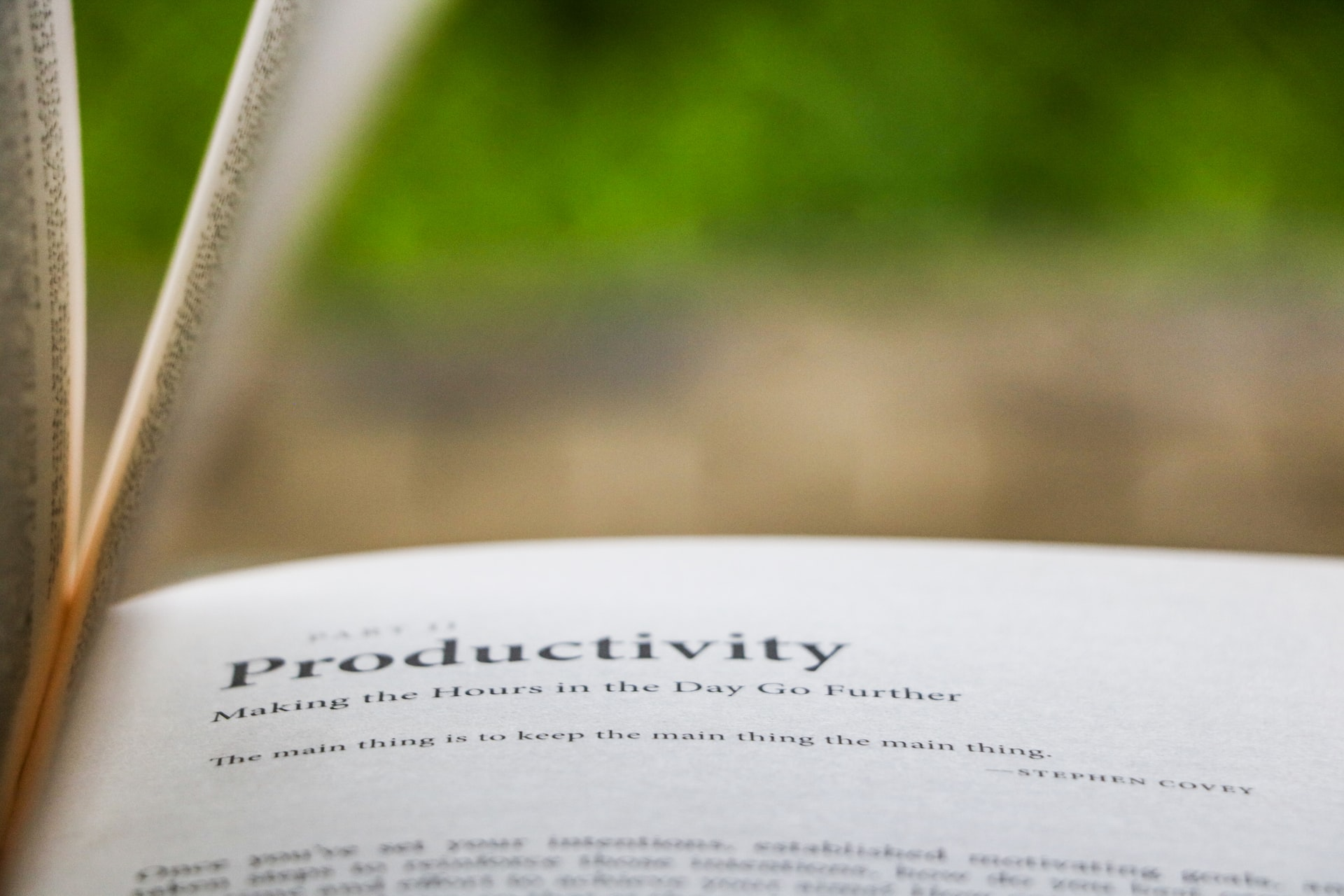 A Good Strategy Leads to Productivity